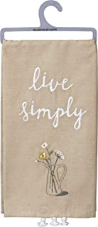 Primitives by Kathy Embroidered Dish Towel, Live Simply