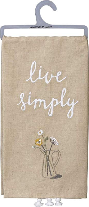Primitives By Kathy Embroidered Dish Towel Live Simply
