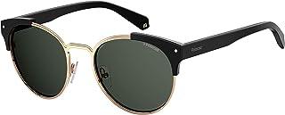 Polaroid Sunglasses Women's Pld 6038/s/x Polarized Round Sunglasses, Black, 56 mm