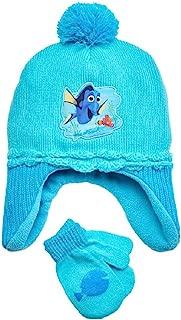Disney Finding Nemo Toddler Girls Blue Dory Hat & Mittens Beanie Set