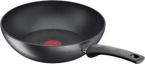 Tefal G27019 Easy Chef IH Wok Pan, 28cm Grey