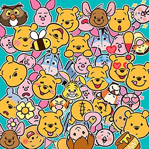 JZLMF Winnie The Pooh - Pegatinas impermeables con diseño de cuentos de la mano