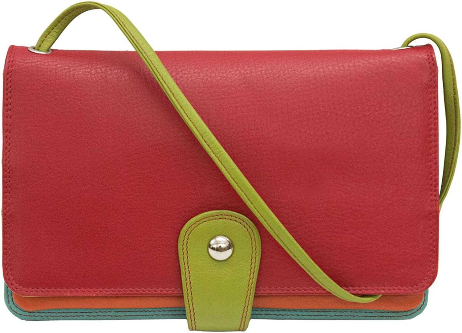 Ili New York 7879 Crossbody Multi Compartment Organizer Wallet (Citrus)