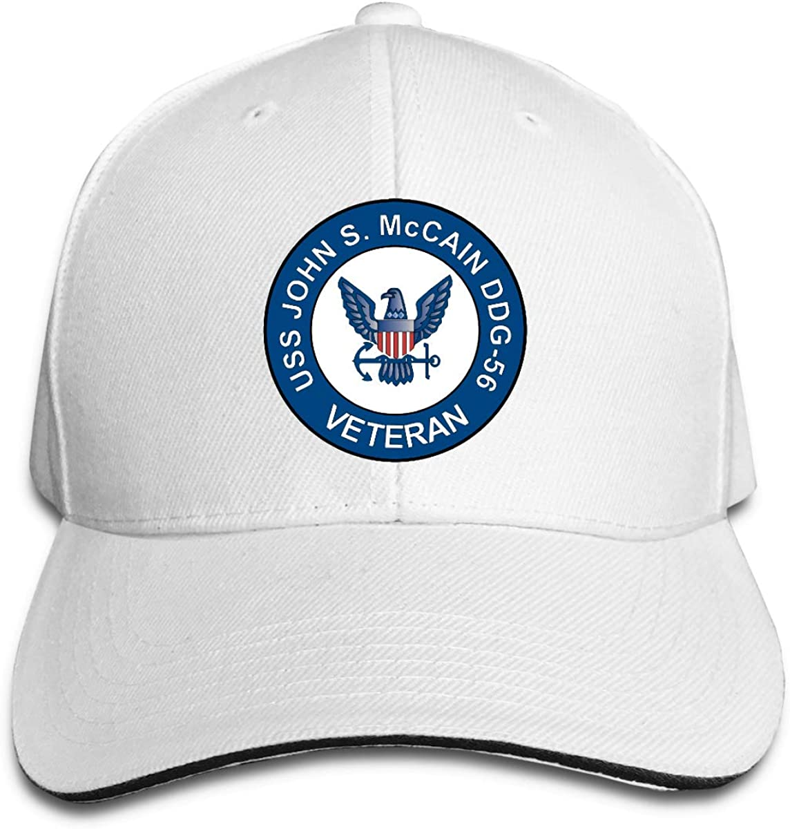 USS John S McCain DDG-56 Veteran Adjustable Baseball Caps Vintage Sandwich Hat
