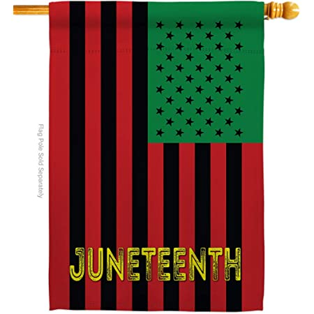 Amazon Com Americana Home Garden Juneteenth American House Flag Patriotic Historic July Memorial Veteran Independence United State Decoration Banner Small Garden Yard Gift Double Sided 28 X 40 Made In Usa Garden