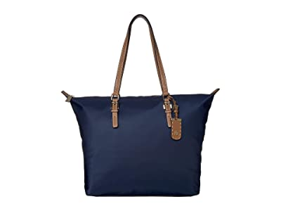 Tommy Hilfiger Julia Zippered Tote (Tommy Navy) Handbags