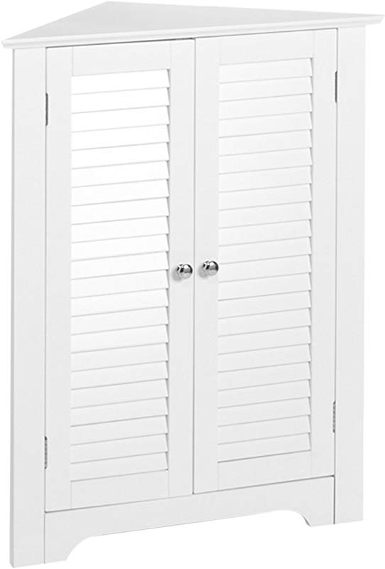 RiverRidge Ellsworth Collection 3 Shelf Corner Cabinet White