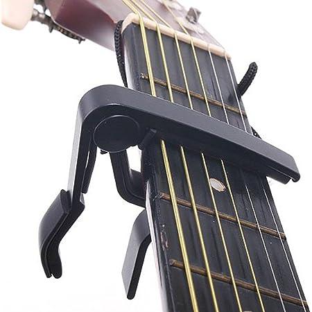 SAVFY Capo de Guitare/Capodastre Pour Guitare Acoustique Électrique Classique - Noir