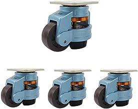 4 stks Meubelwielen Industriële wielen 40F / 60F / 80F / 100F / 120F horizontale aanpassingsnivellering - Heavy Duty verst...