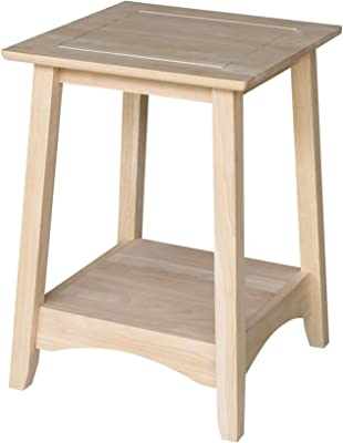 International Concepts Bombay Tall End Table, Unfinished