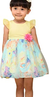 Bonny Billy Toddlers Baby Girls' Floral Tulle Easter Dress Decorated with Flower