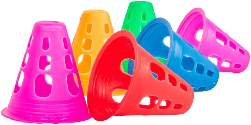 Indianapolis Mall LIOOBO 10Pcs Sports Cones for Topics on TV Kids Fiel Football Training
