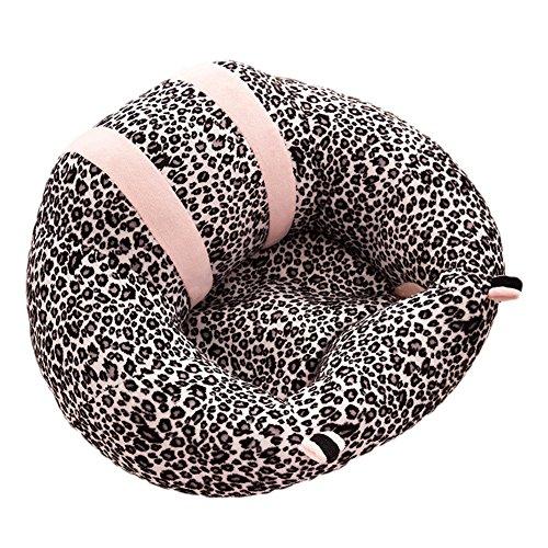 Bebé sofá, sundlight bebé apoyo asiento sofá de peluche y PP algodón Animal almohada cojín de pantalla sentado sofá para 0–2años de edad bebé