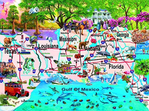 SunsOut 58250 - Thompson: Golf von Mexiko - 1000 Teile Puzzle