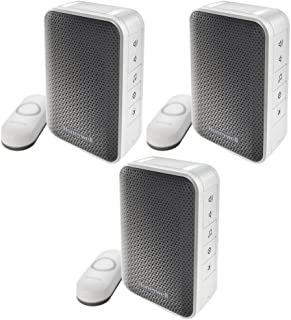 Honeywell Series 3 Portable Wireless Doorbell/Door Chime and Push Button 3 Pack (RDWL313A2000/E)