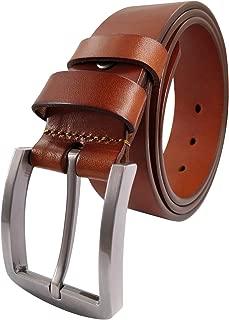 Men's Leather Belt 100% Full Grain Solid Genuine Leather Belt 1.5