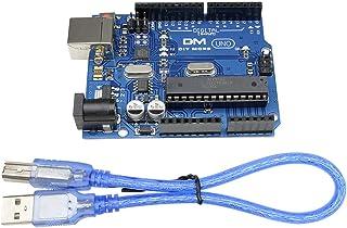 DiyStudio USBケーブル付きArduino互換タイプB USB用ATmega328P UNO R3 ATMEGA16U2ボード 開発ボード UNO R3開発ボード ATmega328P USBケーブル Nano Robot Ardui...