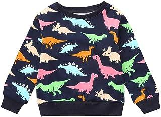 Iuhan Clearance Blouse Baby Boys Dinosaur Print T-Shirt Tops Sweatshirt Pullover Tee