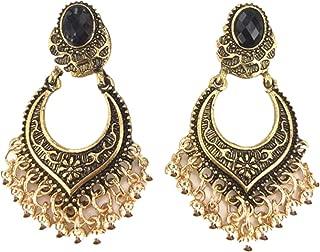 Women's Earrings Studs,Lavany Indian Bollywood Style Gold Plated Wedding Wear Traditional Polki Earrings Jewelry for Women (Gold)
