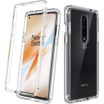 Dahkoiz Compatible with Oneplus 8 Case[Not fit Verizon Oneplus 8], See-Through Clear Crystal TPU Bumper Cover Slim Shockproof Protective Phone Case Compatible with Oneplus 8 (T-Mobile, Unlock), Clear