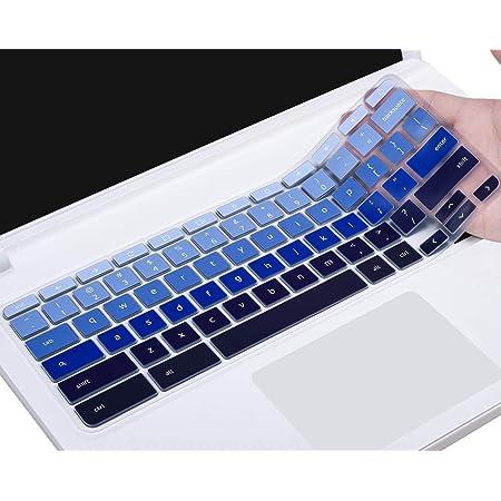 """Keyboard Cover for 2019 2018 ASU S Chromebook C523NA 15.6""""/ Chromebook C423NA 14"""" / Chromebook Flip C302 C302CA-DH54 C302CA-DHM4 12.5"""" Chromebook, Gradual Blue"""