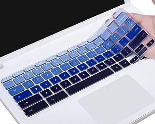Keyboard Cover for 2019/2018/2017 Acer Chromebook 11 CB3-131 CB3-132/ Chromebook R 11 CB5-132T/ Acer Chromebook Spin 13 CP713 CB5-312T/ Chromebook 14 CB514 / Chromebook 15 CB3-531 CB5-571,Gradual Blue