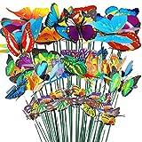 32pcs Mariposas Libélulas Coloridas de Jardín Adornos de Patio en...