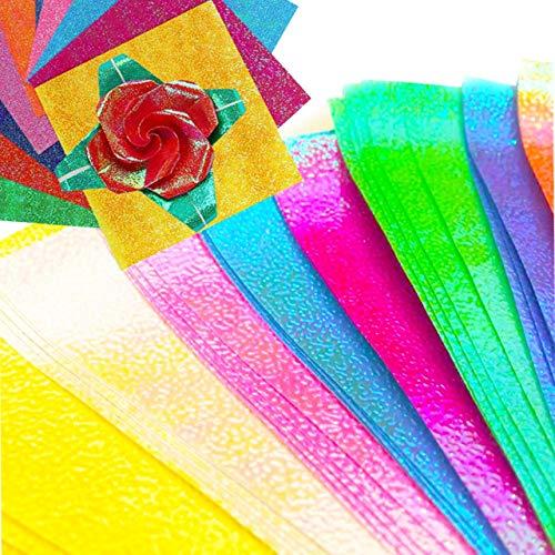 Copeflap キラキラ 折り紙 大きいサイズ おりがみ 大きい折り紙 大きい 大判 25cm 50枚 100枚 (マルチカラー, 100枚)