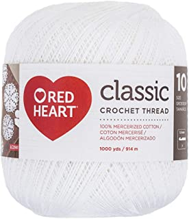 Coats Crochet Red Heart Classic Crochet, Thread Size 10