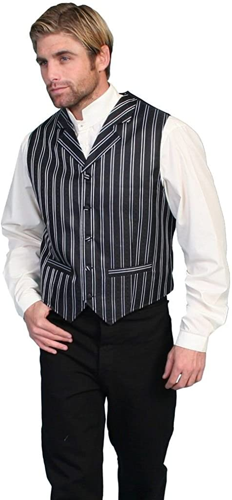 Scully Rangewear Men's Double Pinstripe Vest Sales Popular product and Big T