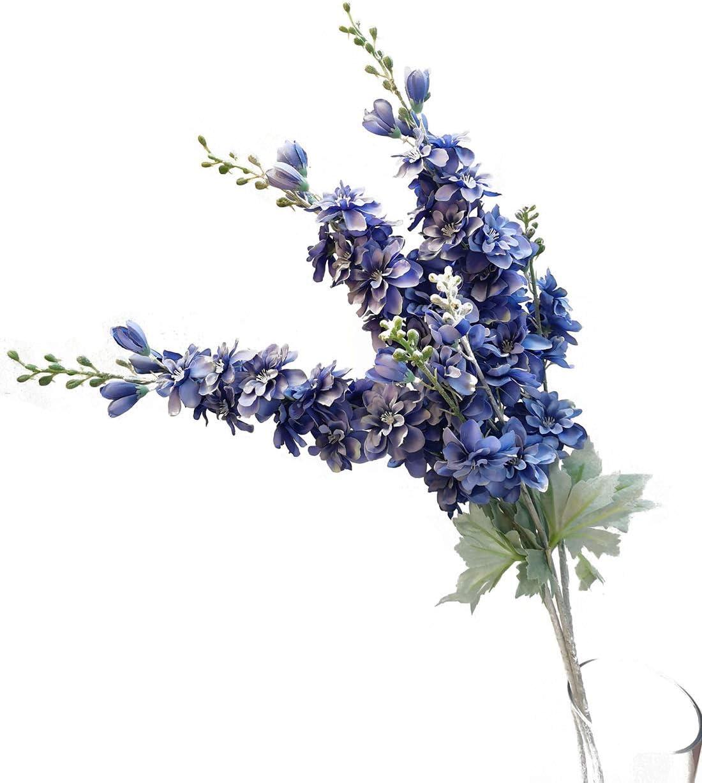 3 Cream Delphinium Artificial Delphinium Blossoms The Blue Hutch DE495 Flower Crown Craft Flowers Wedding Millinery Flowers
