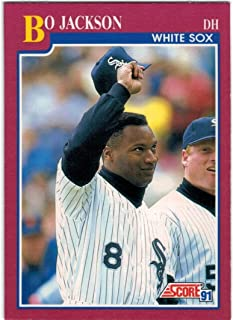 1991 Score with Rookie Traded Chicago White Sox Team Set with Bo Jackson - 2 Frank Thomas & 2 Carlton Fisk - 38 MLB Cards