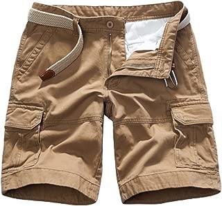 Bottoms Pantaloni corti Esercito Uomo Casual Tinta Unita Spiaggia Estate Tasche Pantaloni Loose