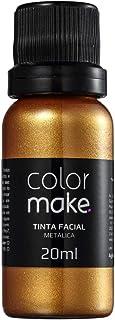 Tinta Líquida Metalica Ouro 20Ml, Colormake