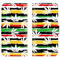 iPhone XR 対応 スマホケース 全機種対応 手帳型 ガンジャ 音楽 ミュージック 麻 music jamaica ジャマイカ レゲエ スマートフォン ケース