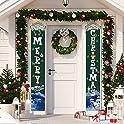 Merry Christmas Door Banner Hanging Decoration (Green)