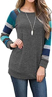 Women's Long Sleeve Cotton Knitted Casual Tunic Sweatshirt Tops