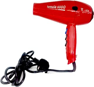 Formula 6000 Hair Dryer, Salon Professional Blow Dryer, ITALY- Red