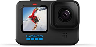 GoPro HERO10 Black - Cámara de acción Impermeable con Pantalla Frontal LCD y Trasera táctil, 5.3K60 Ultra HD, Fotos de 23M...