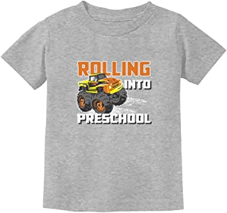 Rolling Into Preschool Back to School Truck Toddler Kids T-Shirt