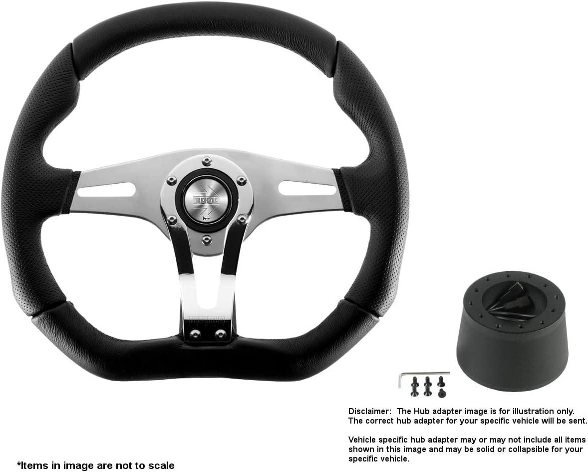 MOMO Trek R 350mm Super popular specialty store 13.78 Inches w Wheel Brushe Leather Max 71% OFF Steering