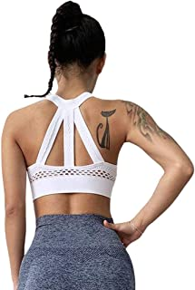 Sohum Active Women Sports Bra, Top for Gym Fitness Yoga Workout Running Criss-Cross Back Padded with Removable Cups