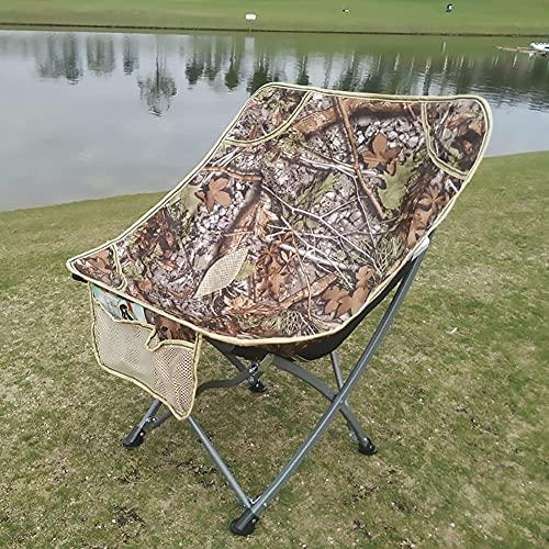 Portátil Silla de campamento al aire libre Sillas de campamento portátil, plegable ligero compacto con bolsillo lateral, pies más grandes, correa para el hombro |Ideal para mochileros, campamento, par