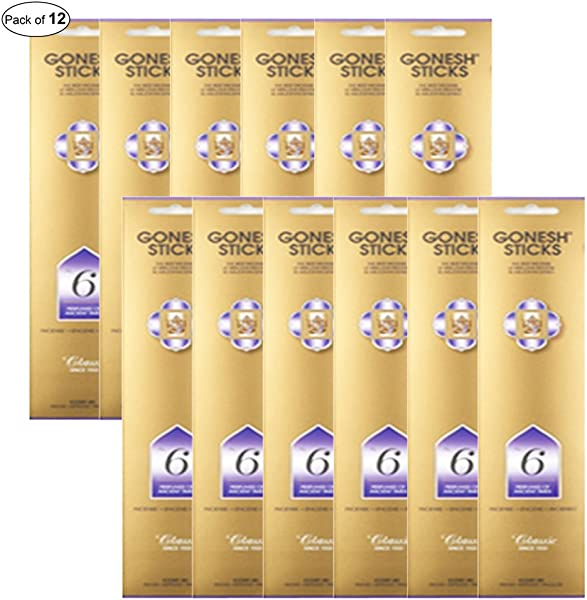 Gonesh Incense No 6 Perfumes Of Ancient Times 20 Sticks In 1 Pack Pack Of 12