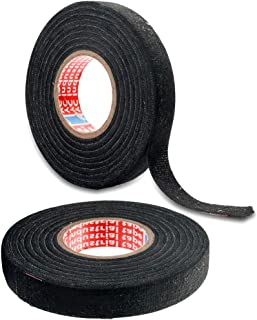 2 Rolls Adhesive Cloth Fabric Tape Wire Harness Wrapping Tape 15mm x 15M
