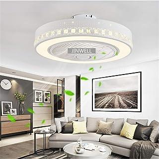 JINWELL Ventilador de techo Lámpara de techo moderna y creativa Ventilador de techo regulable por LED con iluminación y remoto Cuarto de niños silencioso Iluminación de la sala de estar