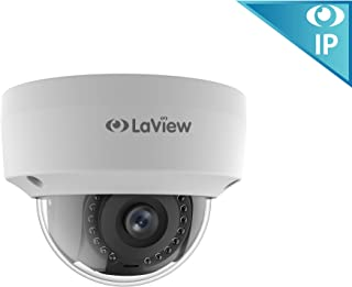 LaView 1080P 2MP IP High Resolution, Day and Night, Indoor/Outdoor, White Dome Security Camera, LV-PD50208