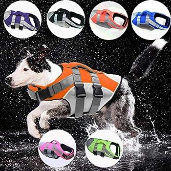 Animal de compagnie gilet de sauvetage gilet de sécurité chien vêtements chien maillot de bain de maillot de bain d'animaux de maillot de bain d'été vacances oxford réfléchissant respirant bouledogue