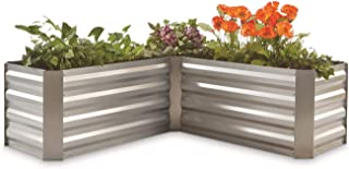 castlecreek galvanized steel planter box medium