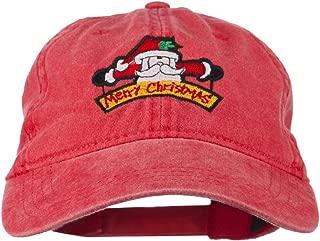 e4Hats.com Merry Christmas Santa Claus Embroidered Cotton Cap